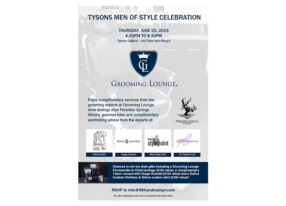 Grooming Lounge Tysons Men of Style Celebration